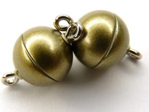 Acryl Magnetic Clasp: Olive Mat 10 mm.-0