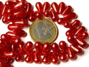 131-59-20733-70495 Red Pearl Drop 6 x 11 mm.-0