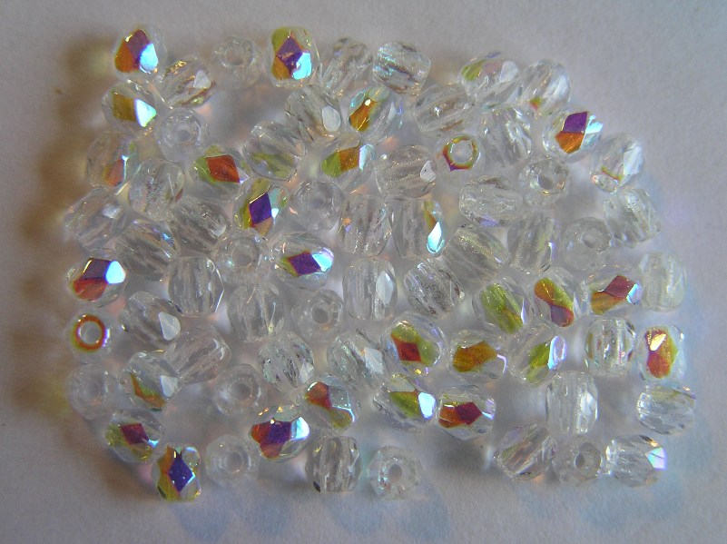 0150120 Crystal AB Facet, 3 mm. 75 Pc.-0