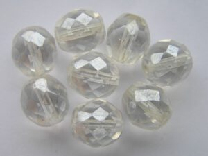 0150139 Crystal hematiet glans facet 10 mm.-0