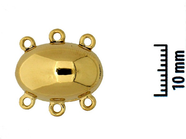 14556-03-01 Magnetic Clasp 23 Krt. Gold Plated 17 x 11.5 mm.-0