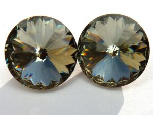 12 mm. 215 Black Diamond 1122 Swarovski Rivoli-0