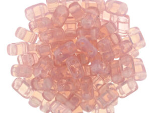 BRI-71010 Milky Pink CzechMate Brick beads 40 Pc.-0