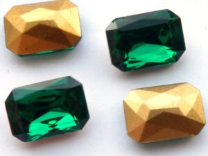 50730-Oc Octagon Emerald Gold Foiled 14 x 10 mm.-0