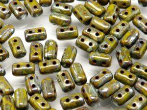 Rul-53410-43400 Opaque Olivine Silver Travertin Rulla 10 gram-0