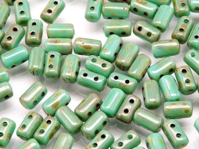 Rul-63130-86805 Opaque Green Turquoise Travertin Rulla 10 gram-0