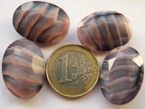 73030-42020-Ov Oval Opaque Pink-Grey Silk Swirl 25 x 18 mm.-0