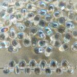 CD 00010-28701 Crystal met AB Czech Drops 6 x 4 mm. 75 pc.-0