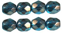 FP-04-69266CR Halo Azurite Facet 4 mm. 50 Pc.-0