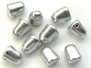 GDR-00030-27000 Crystal Full Silver Gumdrops 10 x 7 mm. 10 St.-0