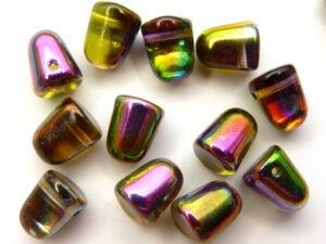 GDR-00030-95000 Crystal-Magic Orchid Gumdrops 10 x 7 mm. 8 St.-0