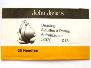 #13.L4320 John James Beading Naalden #13, 25 stuks-0