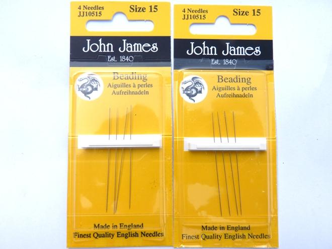 ZB10515 Beadsmith Beading Needles #15. 4 stuks-0