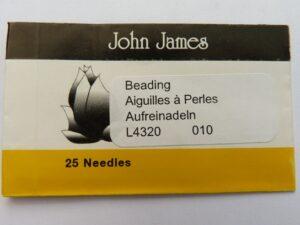 #10.L4320 John James Beading Naalden #10, 25 stuks-0