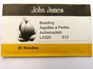 #12.L4320 John James Beading Naalden #12, 25 stuks-0