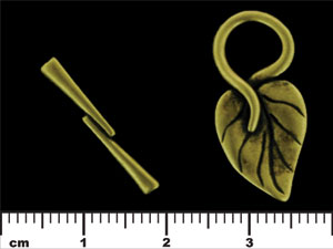 J68-00-ABR : Philodendron Toggle: Antique Brass-0