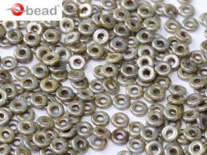 O-03000-65431 Chalk White Green/Blue Marmor Luster O bead ® 5 gram-0