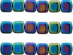 CMT-23980-21435 CzechMates Tile Bead Iris - Blue 20 st.-0