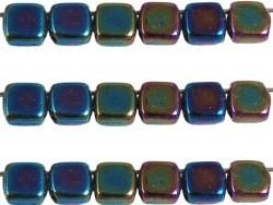 CMT-23980-21455 CzechMates Tile Bead Iris Green 20 st.-0