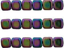 CMT-23980-21495 CzechMates Tile Bead Iris - Purple 20st.-0