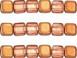 CMT-00030-27101 CzechMate Tile Transparent Capri Gold 20 st-0