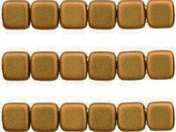 CMT-00030-01730 CzechMate Tiles Matte Metallic Goldenrod 22 stuks-0