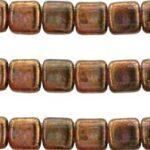 CMT-00030LG Luster Transparent Gold Smoke Topaz 18 stuks-0