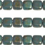 CMT-63140LG CzechMates Tile GoldLustered Green Turquoise 14 Pc.-0