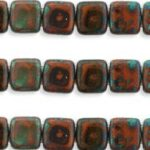 CMT-13600T CzechMates Tile Bead Picasso Umber 20st.-0