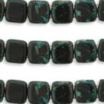 CMT-93300T CzechMates Tile Bead Picasso Opaque Dark Red 20 st.-0