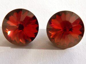 14 mm. 001-REDM Crystal Red Magma 1122 Swarovski Rivoli-0