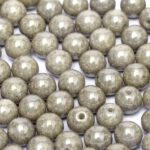 04-R-03000-14449 Chalk White Grey Luster round 4 mm. 90 pc.-0
