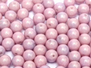 04-R-03000-14494 Chalk White-Pink/Lila Luster round 4 mm. 100 pc.-0