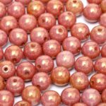 04-R-03000-14497 Chalk White-Copper/Red Luster round 4 mm. 80 pc.-0