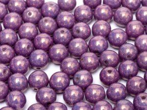 04-R-03000-15726 Chalk White-Purple-Vega Luster round 4 mm. 90 pc.-0