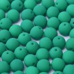02-R-25128 Neon Dark Emerald 2 mm. 100 Pc.-0