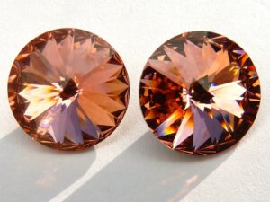 12 mm. 262 Rose Peach 1122 Swarovski Rivoli-0