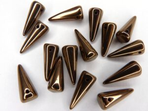 SP-7x17-23980-14415 Jet Dark Copper Spikes 10 stuks-0