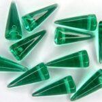 SP-7×17-50710 Light Emerald Spikes 14 stuks-0