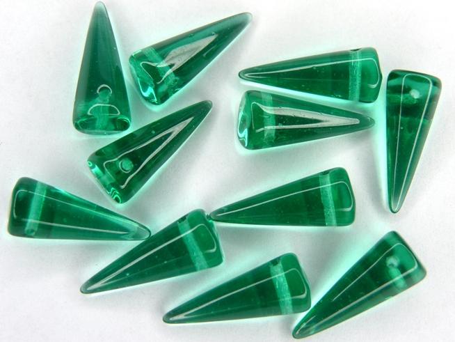 SP-7x17-50710 Light Emerald Spikes 14 stuks-0