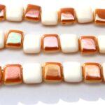 TH-02010-29131 2Hole Square White Albaster Apricot 20 Pc.-0