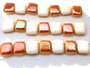 TH-02010-29131 2Hole Square White Albaster Apricot 20 Pc.-0