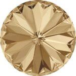 14 mm. 001-GSHA Crystal Golden Shadow 1122 Swarovski Rivoli-0