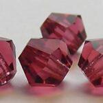 06-MC-70600 Bicones Hot Pink 6 mm. 24 Pc.-0