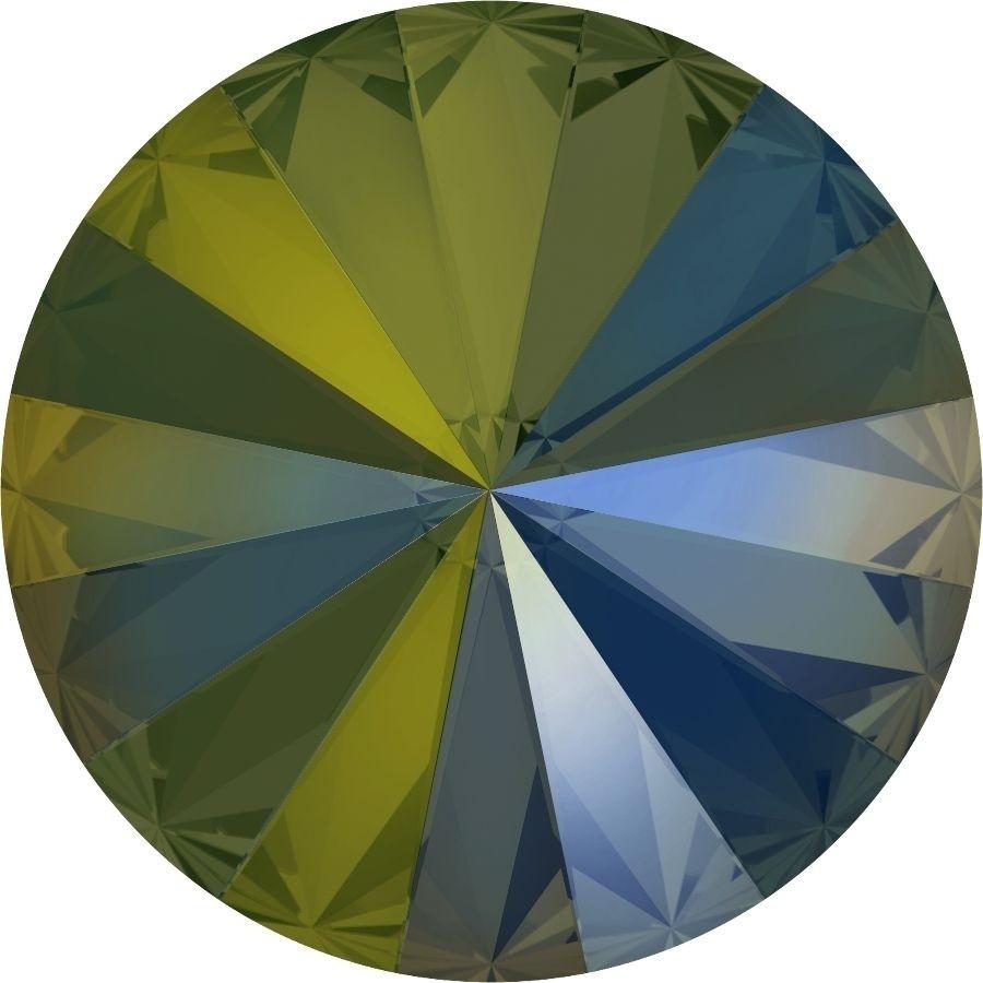 14 mm. 001-IRIG Crystal Iridescent Green 1122 Swarovski Rivoli-0