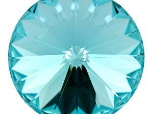 12 mm. 263 Light Turquoise 1122 Swarovski Rivoli-0