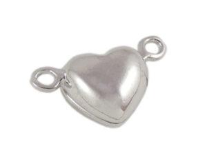 0160232 Brass Magnetisch hartvormig slotje, Platinum Color -0