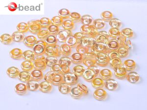 O-00030-98531 Crystal Yellow Rainbow O bead ® 5 gram-0