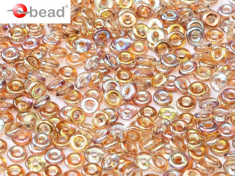 O-00030-98532 Crystal Brown Rainbow O bead ® 5 gram-0