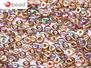 O-00030-98533 Crystal Copper Rainbow O bead ® 5 gram-0